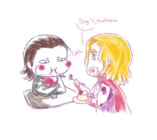 Loki is not still a baby, Thor by MicoSol