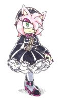 :Amy Rose: Gothic Lolita by Amortem-kun