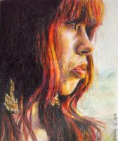 Maria Mena colored pencils by smartisgirl