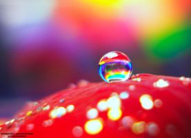 rainbow drop by lindahabiba
