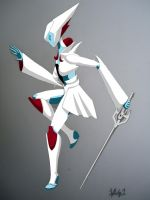 RWBY Weiss Schnee Robot Colored (Complete) by starscreamundermybed