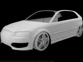 Audi S3 WIP3 Clay by Pisci