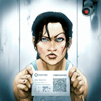 Chell -Redacted- by 2dforever