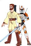 Commander Cody and General Kenobi by Spartan-055