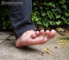 My Foot Outdoor by KarinaDreamer