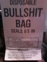 DISPOSABLE BULLSHIT BAG by JackiePhantom13