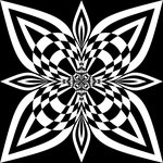 Ms Paint Black And White Flower by rayna23