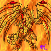 Red-Eyes Darkness Metal Dragon Lineart by AESD