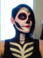 Makeup test for Halloween by SerenitySpiral