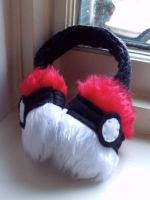 Pokeball Earmuffs by Bee-Delicious