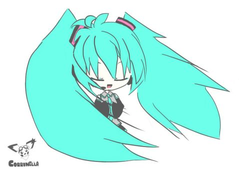Hatsune Miku - A song from the heart by Corrinella