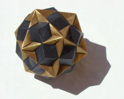 Compound of Dodecahedron and Great Dodecahedron by manilafolder
