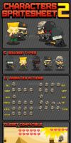Cute Soldiers - Game Sprites by pzUH