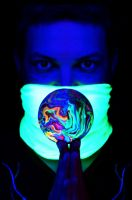 Hand Sculpted Contact Juggling Ball in UV by Dabstar