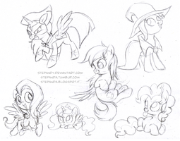 My Little Pony Free Sketches 3 by StePandy