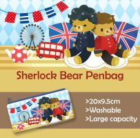 Sherlock Bear pen bag by KD666