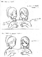 Urei and I are silly 8D by jemeste
