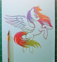 Rainbow Dash PAPER CUTTING by Snowboardleopard