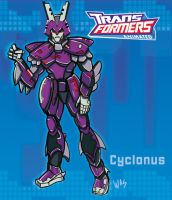 transformers animated Cyclonus by ninjha