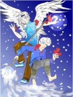 Frost and Jack color by dracodawnstar