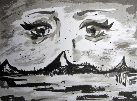 Inktober 01- The Eyes that Watch Over by GossArt1323