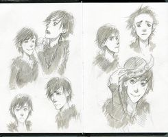 Sketch: Hiccup by Anixien