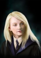 A Painting of Luna Lovegood by jht888