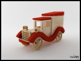 Wooden Toycar For Little KUZEY by CpolART