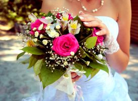 Wedding bouquet by EmiliaDea