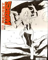 Sketh cover Captain Marvel by TeamAmazing