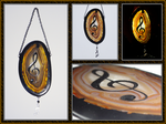 Agate Suncatcher: Treble Clef by ChimeraDragonfang