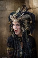 Stock - Black and gold Vampire Queen Faun Demon 45 by S-T-A-R-gazer