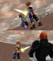 Sora VS Xehanort, a Battle of Light and Dark by todsen19