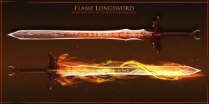 Flame sword by Bing0ne