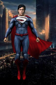 Nicolas Cage As Superman in Superman Lives by timmax9