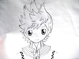 Kingdom Hearts Roxas by colorfulldrawer