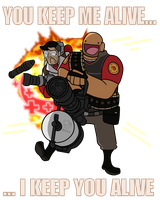 TF2 Medic Heavy spray by BrokenTeapot