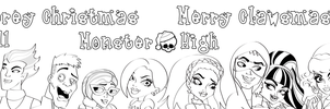 MH: Printable Holiday Coloring Sheets by KPenDragon
