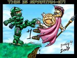 Spartan fight by Booly78