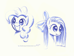 Pinkie Pie Sketches by KP-ShadowSquirrel