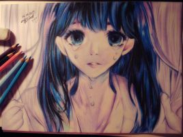 Drawing and shading all the sadness by Huyen-Linh