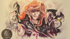 Galaxy pirate - space pirate captain Watercolor by Manidiforbice
