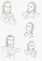 Fahrlight 'Loki' faces doodle by Junjeeaieyu