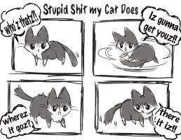 stupid shit my cat does: tails of the enemy by michellescribbles
