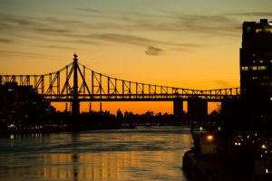 East River Sunset by pixl212