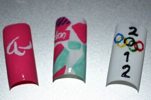 Olympic nail set by Bexiieeee