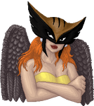 Hawkgirl doll portrait by Lil-Hawk