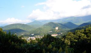 Stock - Town Lost in the Smokies by Vesperity