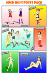 MMD Imas Poses Pack 2011 by AsrialTerra