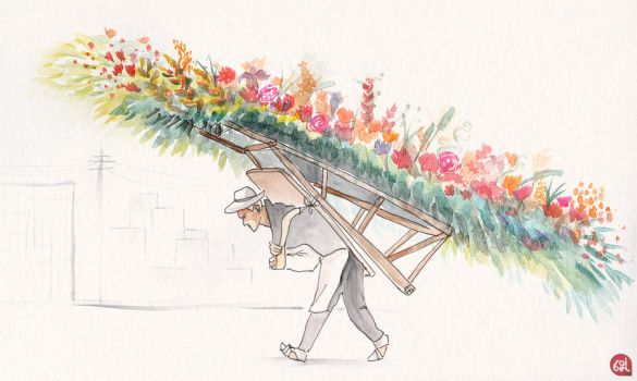 When the flowers go to the city by Saibel